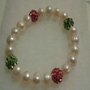 Simulated Pearl/Beaded Bracelet